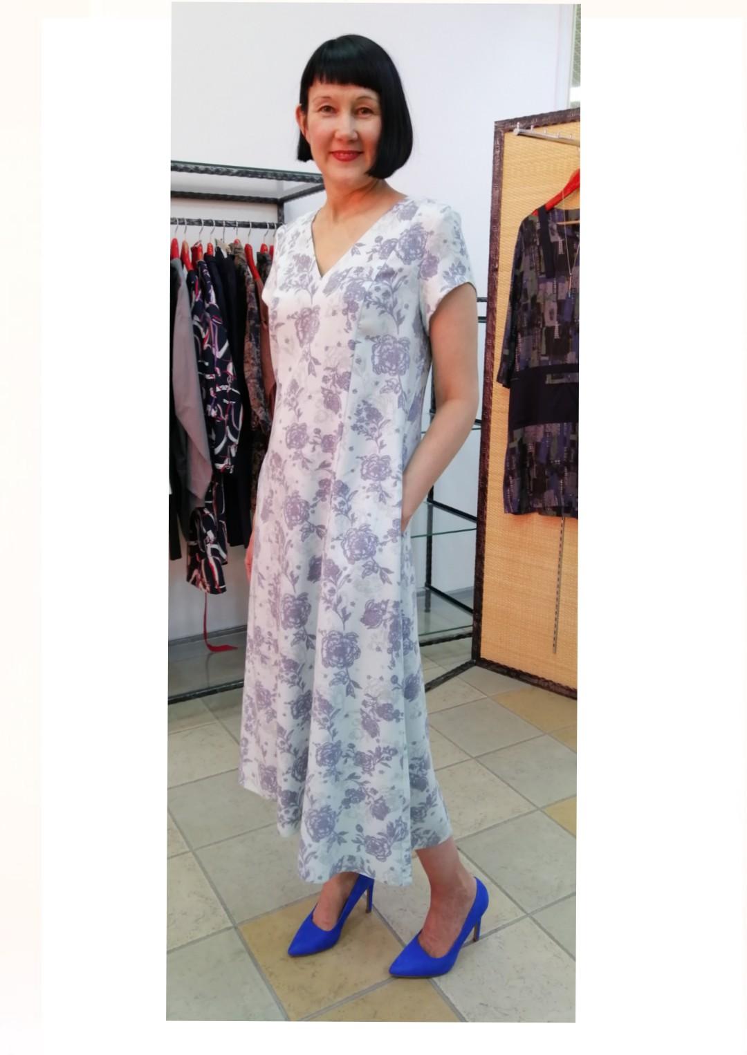 7feb8924f2e96e7 Платье мятный принт от